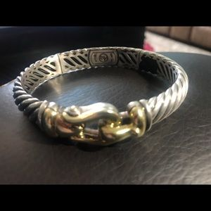 Yurman two tone classic buckle bracelet